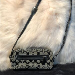 Black coach cross body
